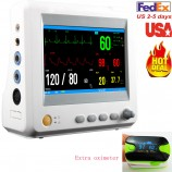 USA Vital Sign Patient Monitor Machine 6 parameters ECG NIBP TEMP SPO2 PR + SPO2