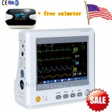 Vital Sign Patient Monitor 6 parameters ECG NIBP RESP TEMP SPO2 PR+FREE OXIMETER