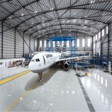 windproof prefabricated steel structure design aircraft hangar