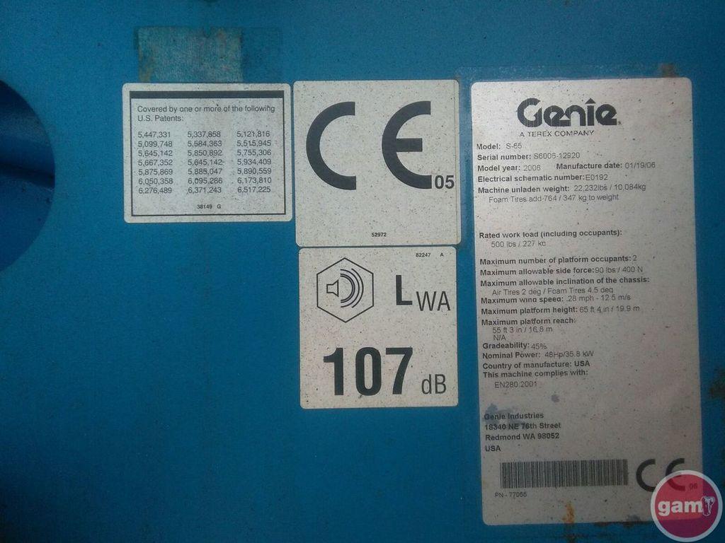 Genie S 65 4wd Wiring Diagrams Hydraulic And Pneumatic