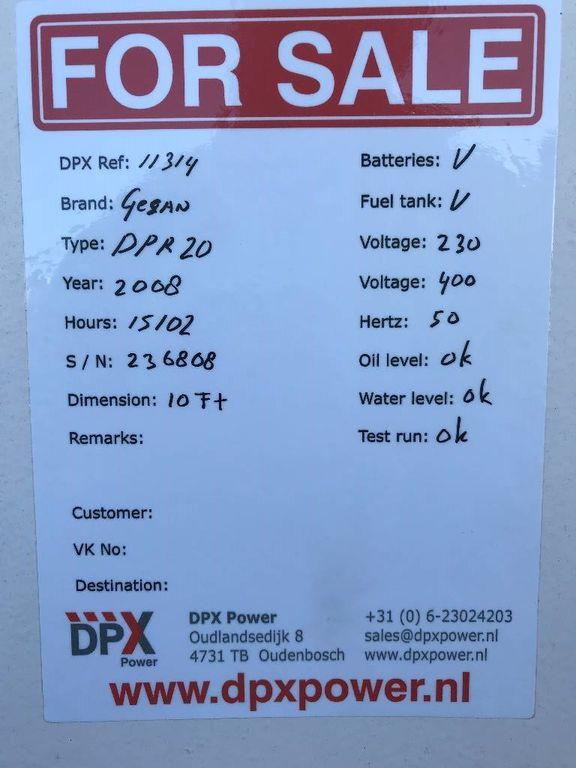 GESAN - DPR20 - Perkins - 22 kVA Generator - DPX-11314