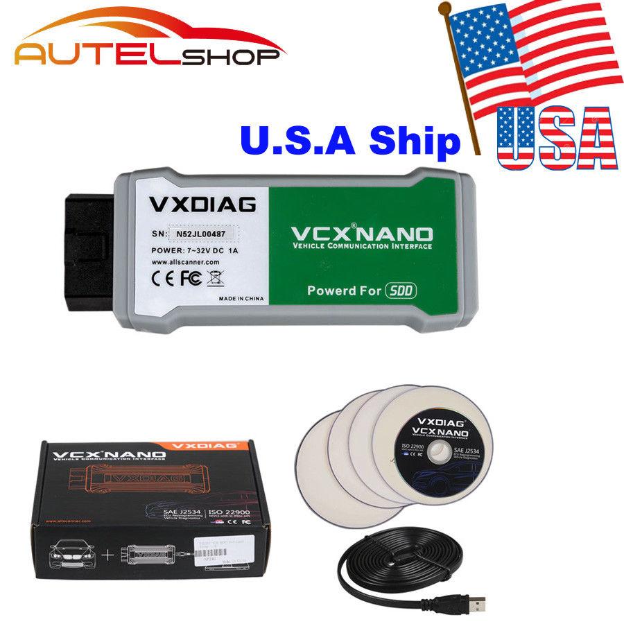 VXDIAG VCX NANO OBD2 for Land Rover and Jaguar Software SDD V145