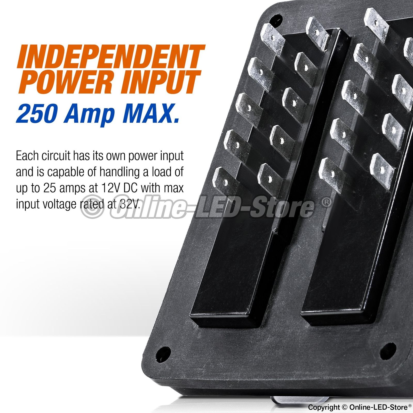 waterproof blade fuse box 10 way marine boat electrical distribution  accessory