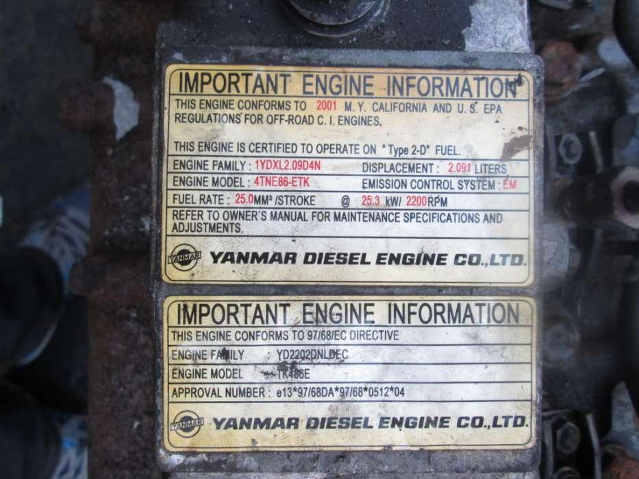 Yanmar 4TNE86-ETK engine for wheel loader